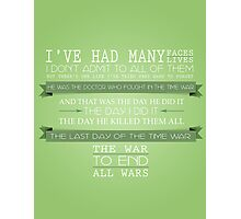 End All Wars (50th Anniversary, The Day of the Doctor, Doctor Who) Photographic Print