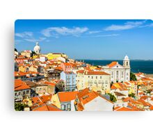 Lisbon Downtown Canvas Print