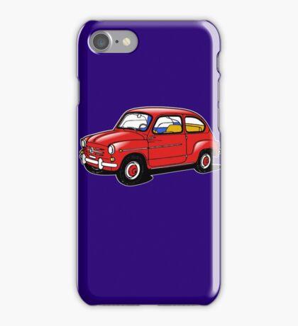 fiat 600 red iPhone Case/Skin