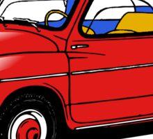 fiat 600 red Sticker