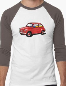 fiat 600 red Men's Baseball ¾ T-Shirt