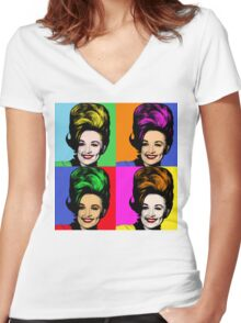 Dolly Parton pop art. Nashville Country Music Women's Fitted V-Neck T-Shirt