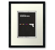 Reservoir Dogs Minimal Film Poster Framed Print