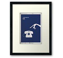 ET Minimal Film Poster Framed Print