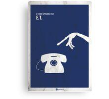 ET Minimal Film Poster Canvas Print