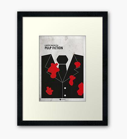 Pulp Fiction Minimal Film Poster Framed Print