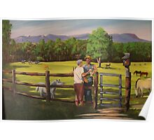 My Parents 50th anniversary Log Cabin Farm Poster