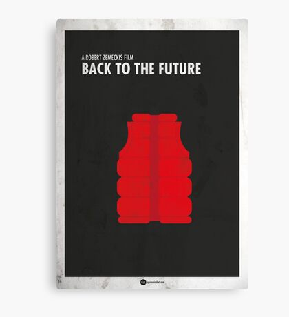 Back to the Future Minimal Film Poster Canvas Print