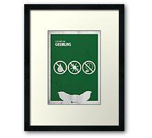 Gremlins Minimal Film Poster Framed Print