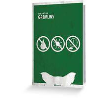 Gremlins Minimal Film Poster Greeting Card