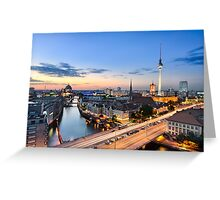 Berlin Skyline Panorama Greeting Card