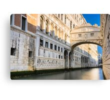 The famous Bridge of Sighs in Venice Canvas Print