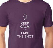 the shot, white Unisex T-Shirt