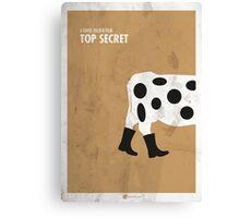 Top Secret Minimal Film Poster Canvas Print