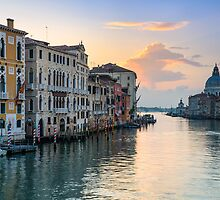 Sunrise at the Grand Canal in Venice, Italy by Michael Abid