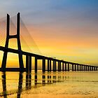 Vasco da Gama bridge in Lisbon by Michael Abid