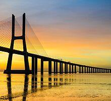 Vasco da Gama bridge in Lisbon by Michael Abid