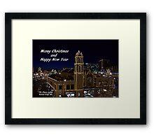 Kansas City Plaza Lights Framed Print