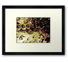Diamonds & Disaster Framed Print