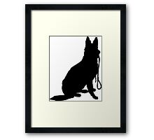 Shepherd with Leash Framed Print