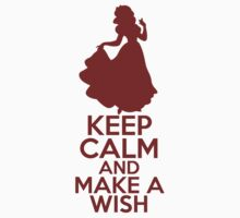 Keep Calm and Make a Wish (Snow White, Snow White and the Seven Dwarfs) Kids Clothes