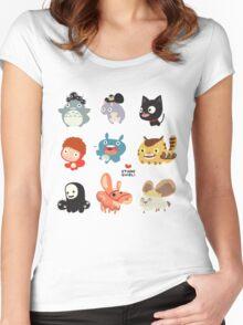 Studio Ghibli Friends Women's Fitted Scoop T-Shirt