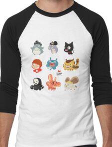 Studio Ghibli Friends Men's Baseball ¾ T-Shirt