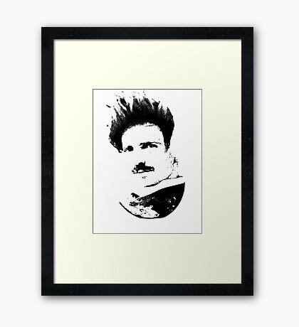 Postmodern Tesla Black Framed Print