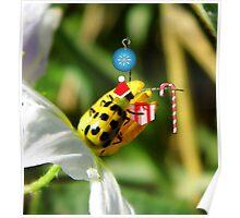 The Santa Ladybug Poster