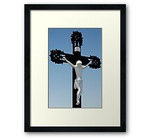 Hung On A Cross Framed Print