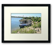 Anchored Boat Framed Print