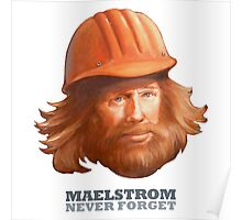 EPCOT Norway Pavilion MAELSTROM NEVER FORGET - Retro Disney - Construction Guy Poster