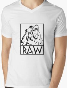 RAW Logo Tee Mens V-Neck T-Shirt