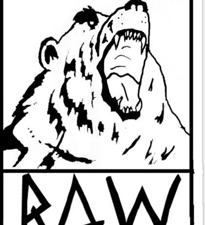 RAW Logo Tee Sticker