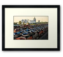 Trains On The Track Framed Print