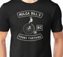 Mulga Bill - Penny Farthing Bicycle Club Patch Tshirt Unisex T-Shirt