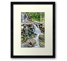Waterfall and Stream Framed Print