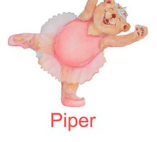 Piper Ballet Bear by Monica Batiste