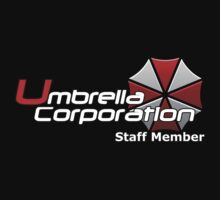 Umbrella Corp. Staff Member shirt by Steven Hoag