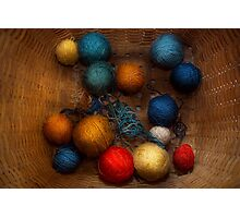 Sewing - Knitting - Yarn for cats Photographic Print