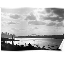 A view over Sydney Harbour Poster