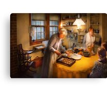Chef - Kitchen - Home for the holidays Canvas Print