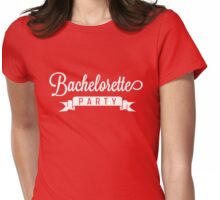Bachelorette Party Ribbon Womens Fitted T-Shirt