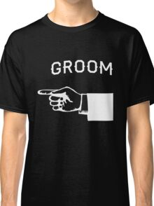 Groom Hand Pointing Right Classic T-Shirt