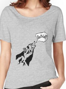 RAW WOLF HOWL TEE Women's Relaxed Fit T-Shirt