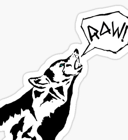 RAW WOLF HOWL TEE Sticker
