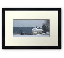 Winter's Bite Framed Print
