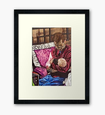 Father & Son: Nick and Jude Framed Print