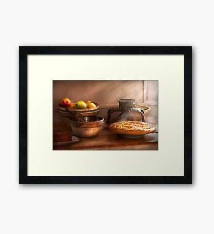 Food - Pie - Mama's peach pie Framed Print