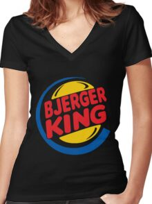 Bjerger King Women's Fitted V-Neck T-Shirt